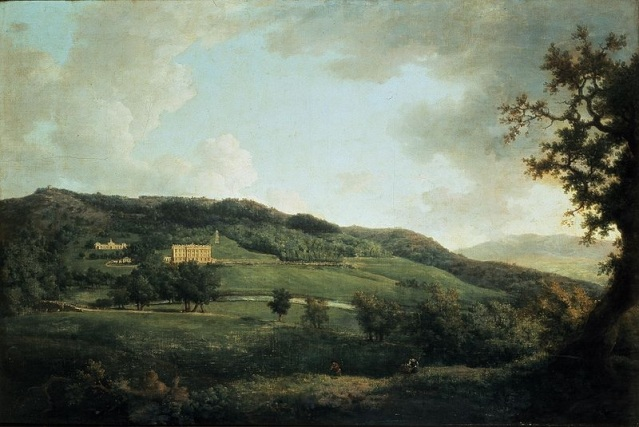Wilson, Richard A View of Elizabethan Chatsworth (copy of a lost 17th Century painting) 99.1x124.5cm, 18th Century, Devonshire Collection, Chatsworth House, Derbyshire http://s3-eu-west-1.amazonaws.com/lowres-picturecabinet.com/142/main/1/455336.jpg [Accessed 24/05/2012]