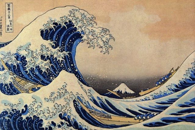 Katsushika Hokusai Under the Wave off Kanagawa http://upload.wikimedia.org/wikipedia/commons/thumb/a/a5/Tsunami_by_hokusai_19th_century.jpg/800px-Tsunami_by_hokusai_19th_century.jpg [Accessed 27/04/2011]