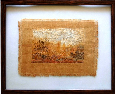 """Landscape on Tea-Dyed Cloth"" by Sunrita"
