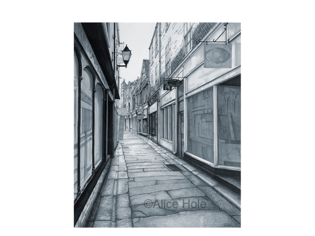 """Cathedral Lane - Truro"" by Alice Hole"