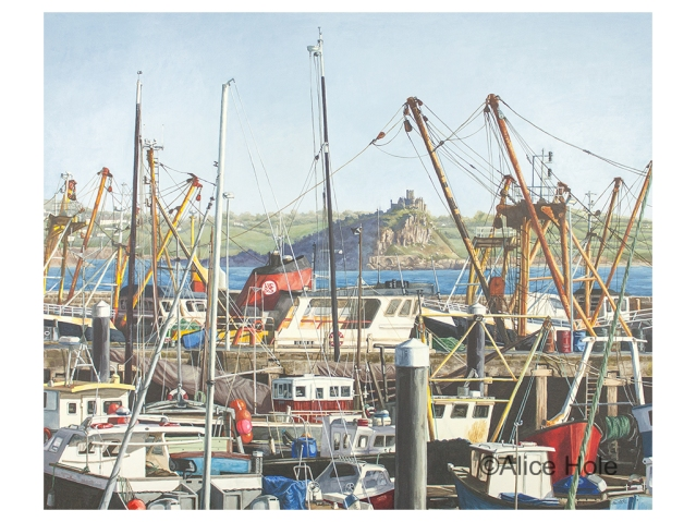 """Newlyn Harbour View"" by Alice Hole"