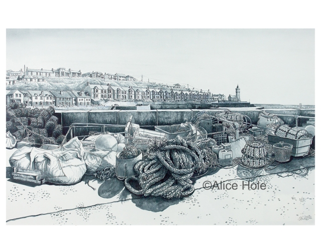 """Porthleven Harbour"" by Alice Hole"