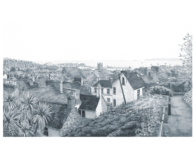 """St Ives Rooftops"" by Alice Hole"