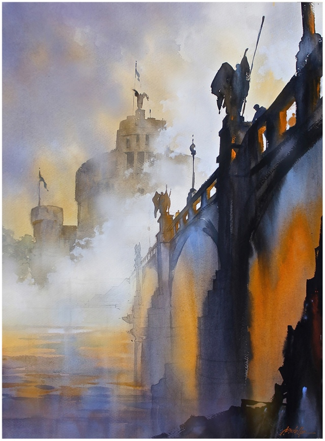 """Fog on the Tiber - Rome"" by Thomas W Schaller"