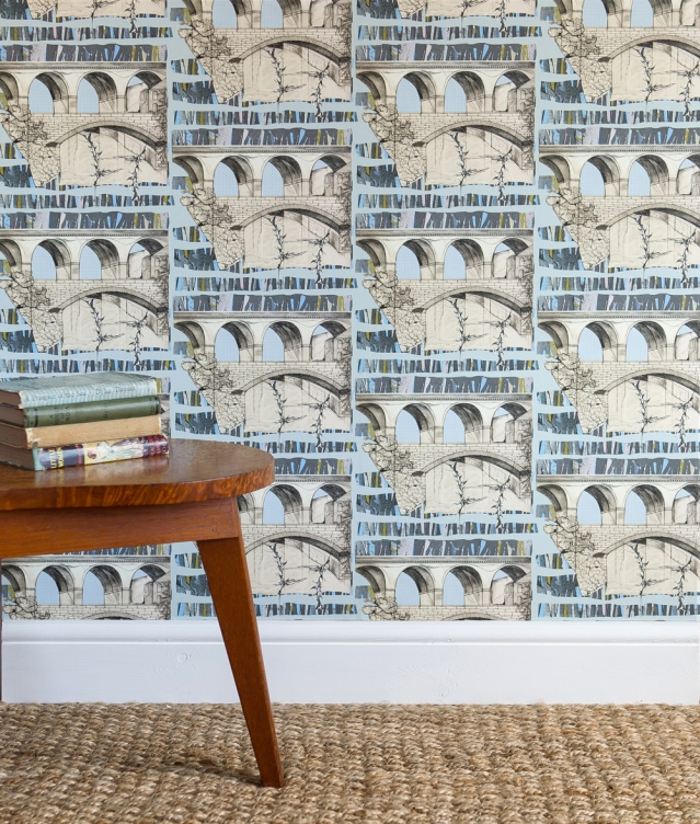 """Viaduct Wallpaper"" by Rachel Reynolds"