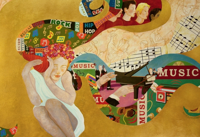 """Music"" (mixed media on Paper, 64x44 cm)"